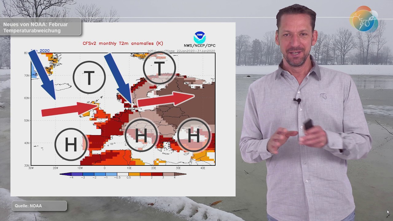 Nasses und Neues von NOAA. Der Februar macht´s regen- und schneereich.