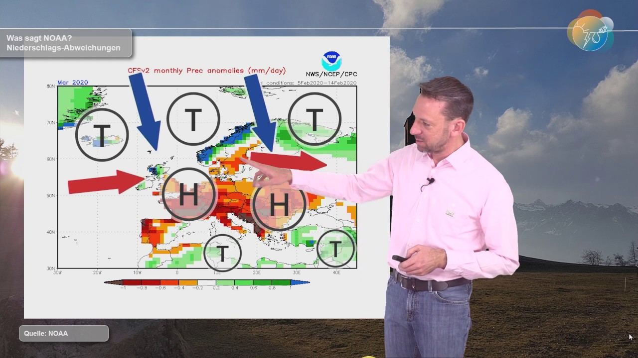 Wie wird der März? Einschätzungen von NOAA und wahrscheinliche Großwetterlagen.