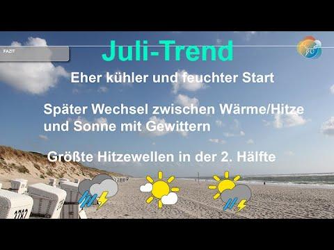 Trend. Wie wird der Juli? Wird der Juli sommerlich? Wie viel Hitze gibt es im Juli?