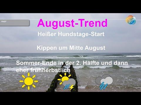 Wetter im August 2020: Sagt die Wetterprognose heiße Hundstage voraus? Oder kommt der Herbst?