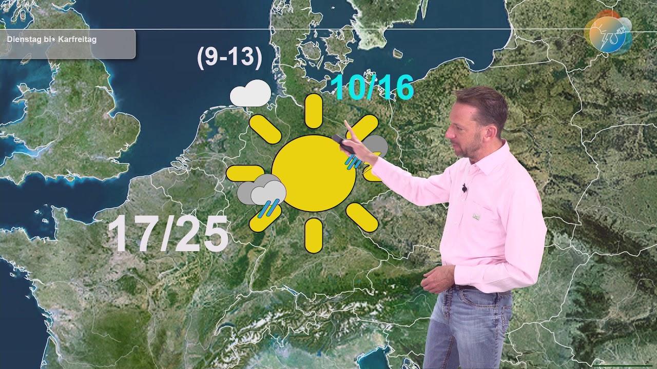 Wettervorhersage. Wie wird es bis Ostern? Wann kommt Regen?