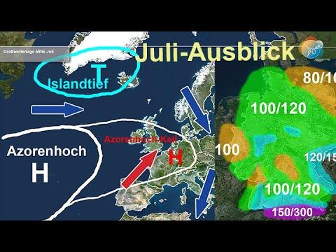 Einschätzung: Was bringt der Juli? Hochsommermonat mit Regen oder Hitze? (Regenprognose Juli.)