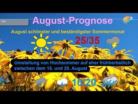 Wie wird der August? Wetter gibt es im August 2020: nach Hitze an den Hundstagen folgt der Herbst.