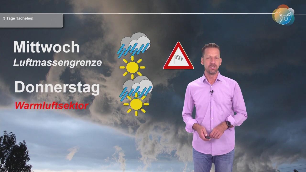 Aktuelle Wettervorhersage 8. Juli 2020: 3 Tage Tacheles mit Luftmassengrenze, Warmluft & Kaltfront!