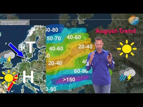 Einschätzung: Wie wird der August? Am Anfang Hitze, am Ende Frühherbst. Trockenheit in der Mitte.