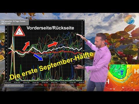 Wetterprognose: Wie beginnt der Herbst? Wie wird die erste September-Hälfte? Zwischen Kühle & Wärme.