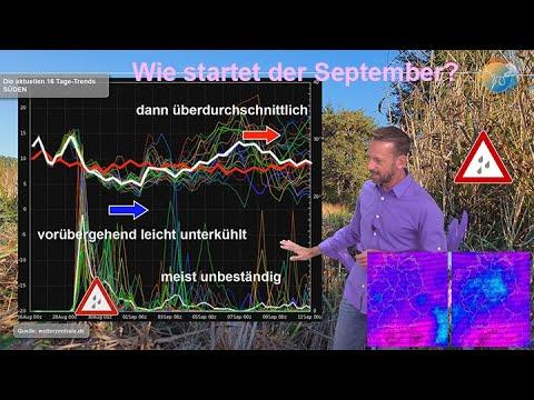 Wetterprognose: Wie startet der September? Nach Herbsteinbruch etwas wärmer. Regen in Sicht?