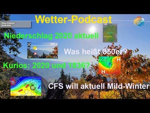 Wetter-Podcast: Niederschlag 2020. Wetterlagenvergleich 1836, 1846 & 1863. Aktuelle Winter-Prognose.