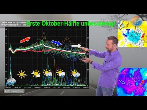 Wetterprognose: Die erste Oktober-Hälfte bleibt unbeständig. Noch kein goldener Oktober in Sicht!
