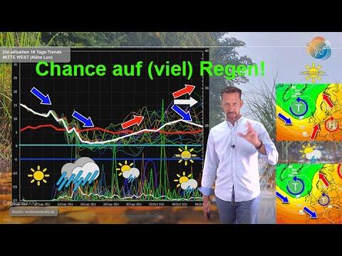 Wetterprognose: Regen in Sicht! Temperatursturz! Wie endet der September? Wie startet der Oktober?