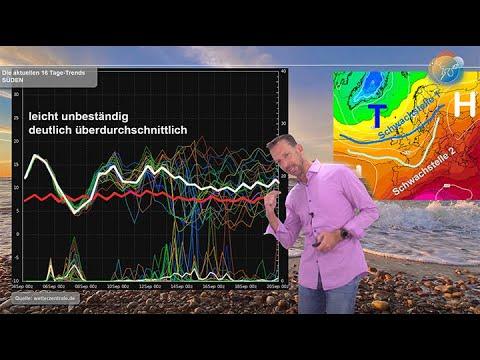 Wetterprognose: Wie geht der September weiter? Regen in Sicht? Analyse der Wetterlage bis zum 20.