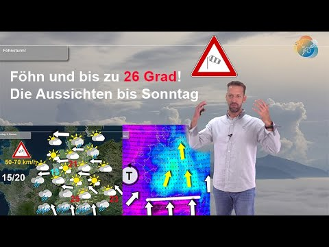 Aktuelle Wetter-, Regen- und Föhnvorhersage 1. bis 4. Oktober: Gast 20 Grad Temperatur-Unterschied!